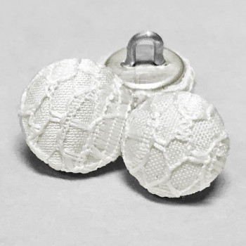 W-1037 - White Lace Bridal Buttons, Priced by the Dozen