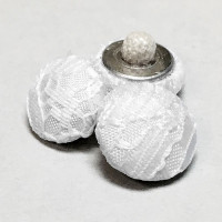 W-1037-TB White Lace Bridal Buttons with Tufted Back, Priced by the Dozen
