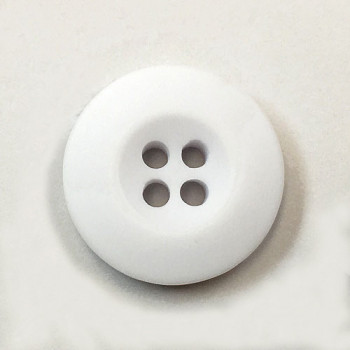 WB-29-Matte White Melamine Uniform or Chef Coat Button, Sold by the Dozen