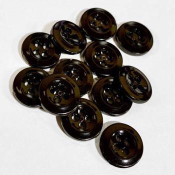 WBB-049 - Dark Brown Shirt or Uniform Button, Sold by the Dozen