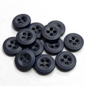 WBB-09  Shirt or Uniform Button in Matte Navy, Sold by the Dozen
