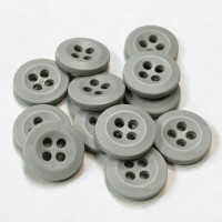 WBB-10  Shirt or Uniform Button in Matte Light Grey, Sold by the Dozen