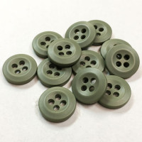 WBB-11  Shirt or Uniform Button in Matte Olive Green, Sold by the Dozen