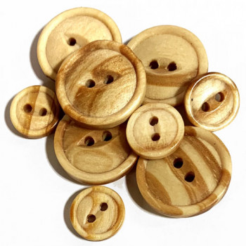 WD-1220 Fisheye Wood Button, 2 Sizes - Priced by the Dozen