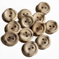 "WD-201A - Burnt Wood Button - 5/8"", Sold by the Dozen"