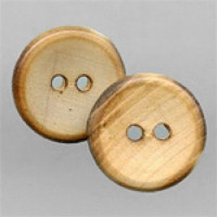WD-22-Burnt Wood Button, Sold by the Dozen