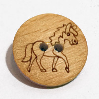 WD-285 Wooden Horse Button