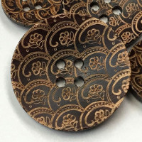 WD-513-Laser-Cut Wood Button, 3 Sizes