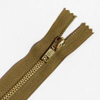 ZPB-4KH9 - #4 Brass Zipper - 9 inch, Khaki