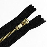 ZPB-5BK79 - #5 Brass Zipper - 7 and 9 inch, Black