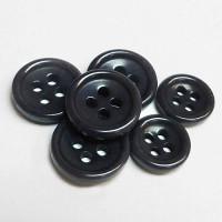 CZ-36 - Dark Grey Corozo Shirt Button - 3 Sizes, Priced by the Dozen