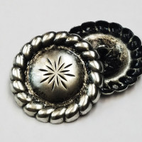 "M-1154-Concho Style Metal Button 1 1/4"""