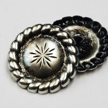 "M-1154-Concho Style Metal Button, 1-1/4"""