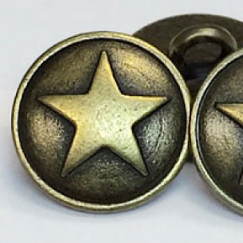 M-178  5-Point Star Metal Button