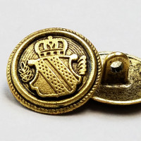 M-3215 Antique Gold Coat Button, 3 Sizes