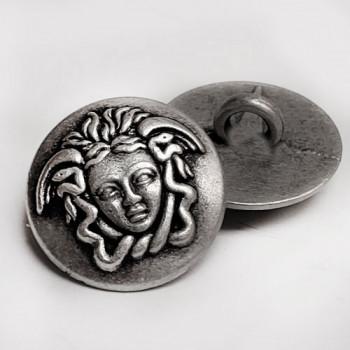 "M-7909 Medusa Head Metal Fashion Button, 5/8"""