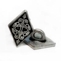 M-804-D-Metal Fashion Button, Priced per Dozen