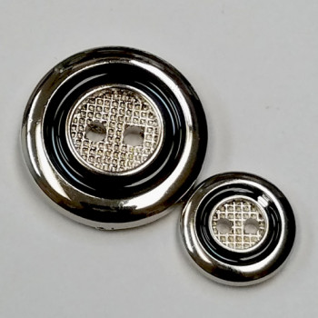 MSP-7245  Silver with Black Epoxy Button  - 3 Sizes