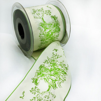 "V7662 Vintage Wired Ribbon, 2-3/4""  - Sold by the Yard"